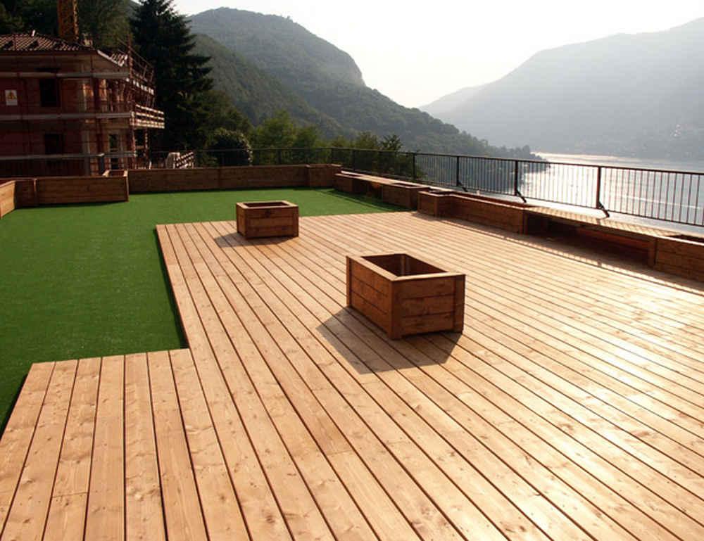 Pavimentazione esterna case in legno verona tetti in - Pavimentazione esterna ...